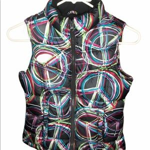 Old Navy Peace Sign Puffer Vest